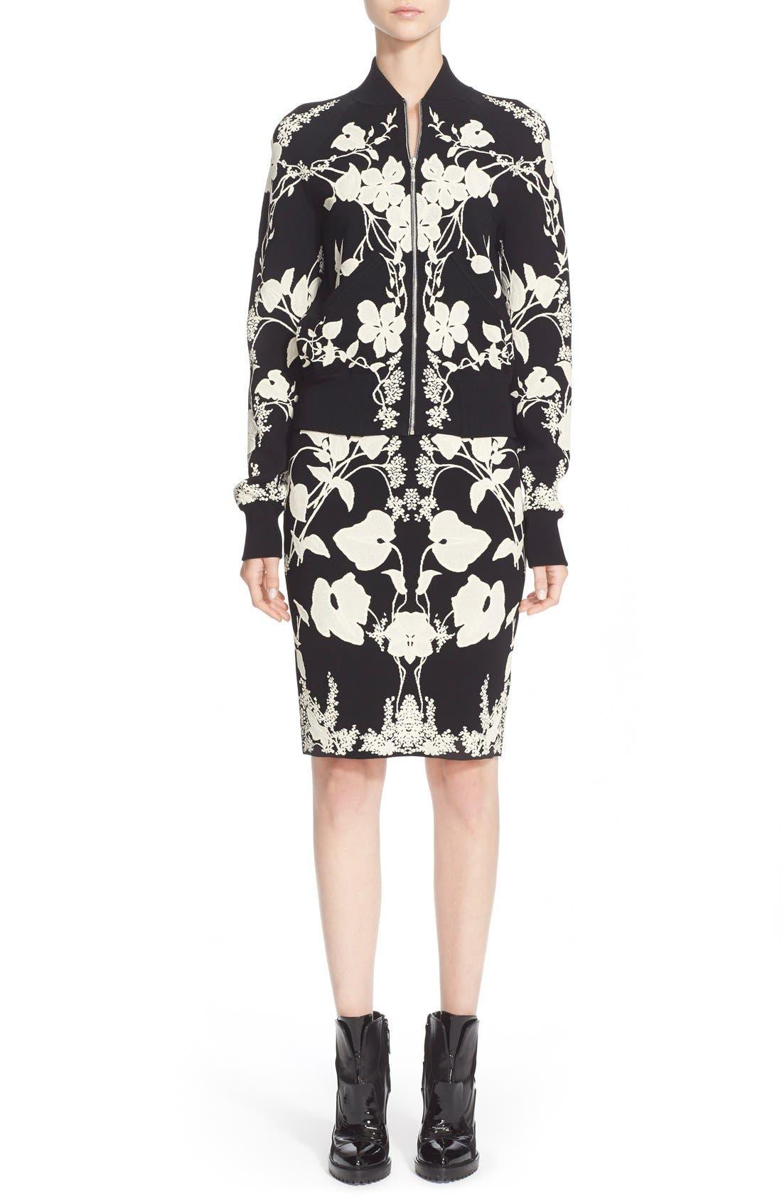 Alternate Image 6  - Alexander McQueen 'Belle Epoque' Floral Pattern Jacquard Pencil Skirt