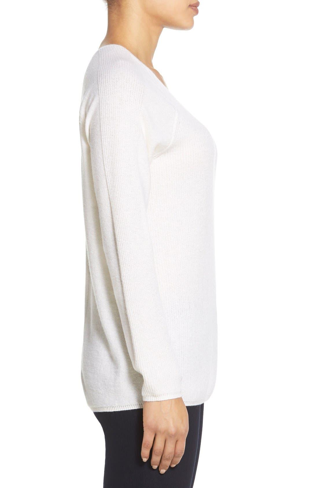 Alternate Image 4  - Nordstrom Collection V-Neck Cashmere Sweater