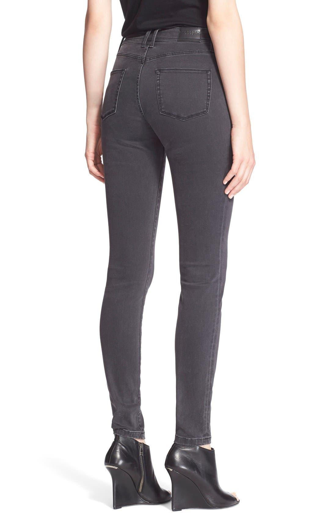 Alternate Image 2  - Burberry Brit Skinny Jeans (Mid Grey)