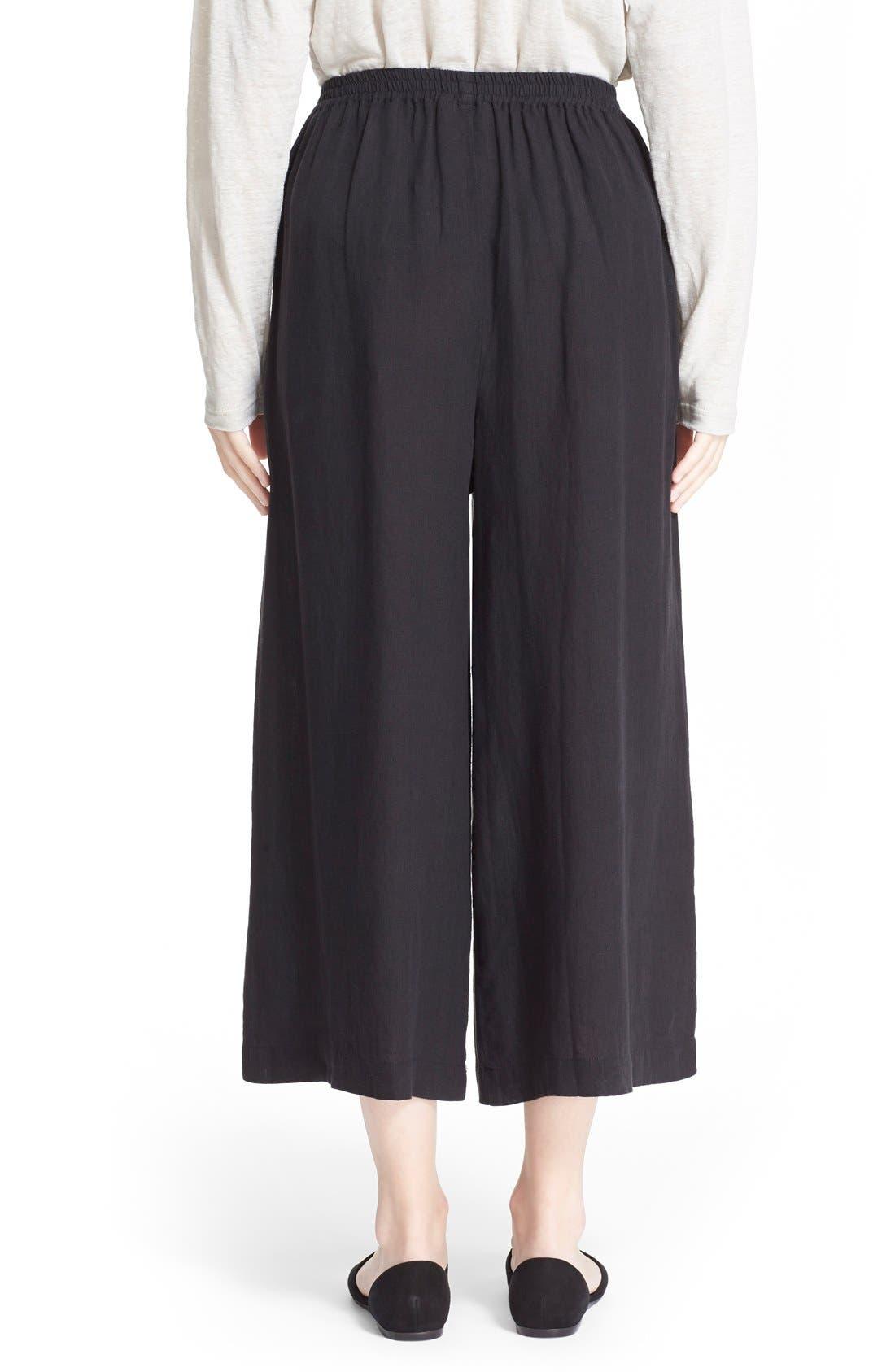 Alternate Image 2  - eskandarHandkerchief Linen Flare Crop Pants