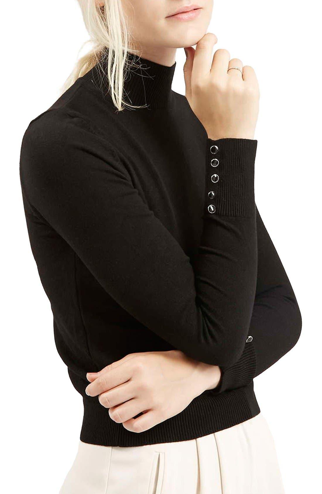 Alternate Image 3  - Topshop Funnel Neck Long Sleeve Top
