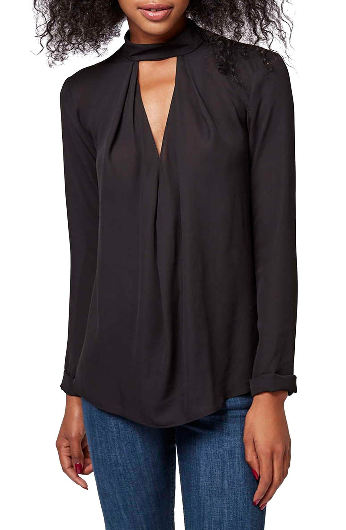 Alternate Image 1 Selected - Topshop Front Cutout Long Sleeve Top