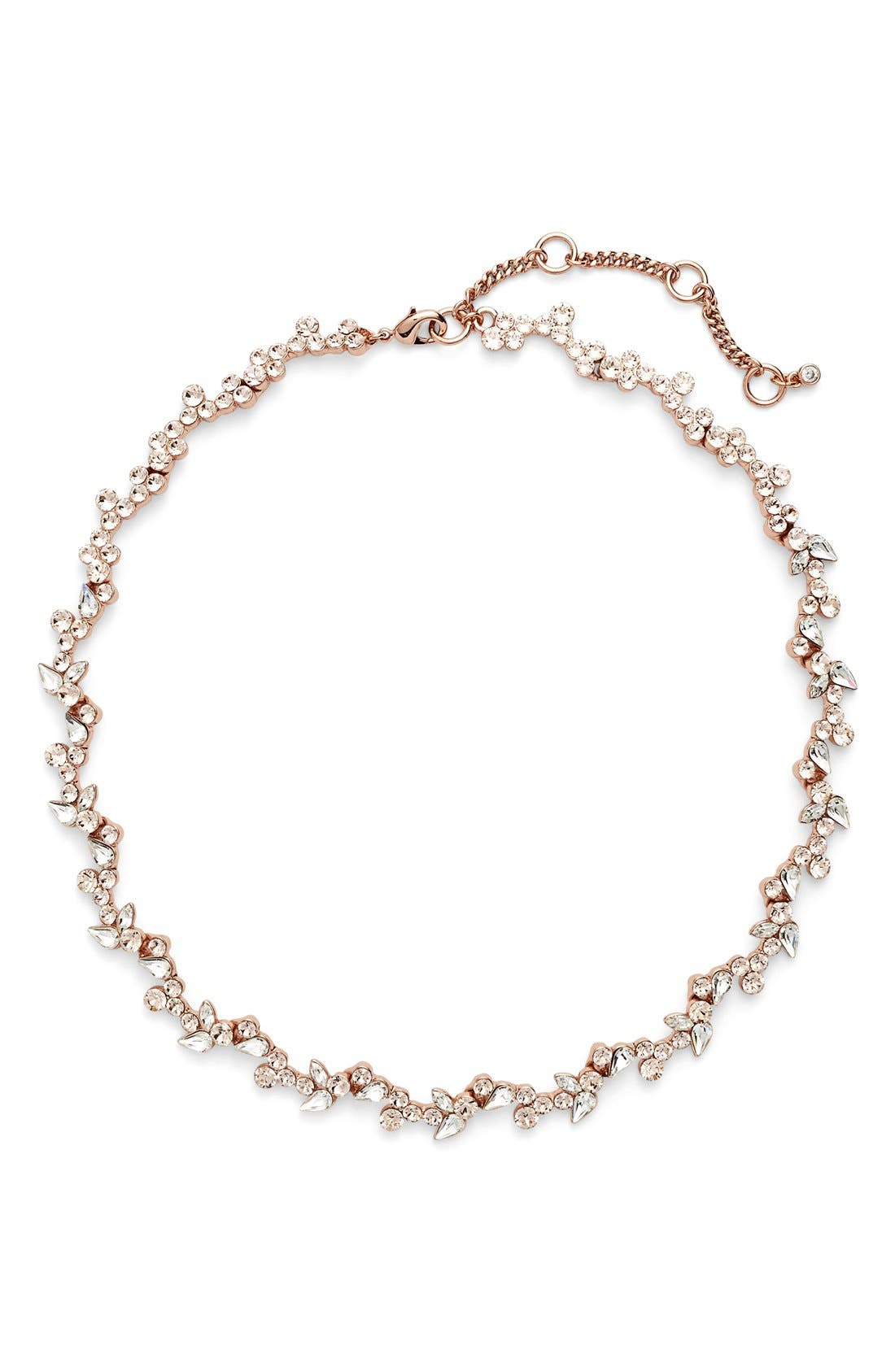 Alternate Image 1 Selected - Givnechy Floral Crystal Collar Necklace