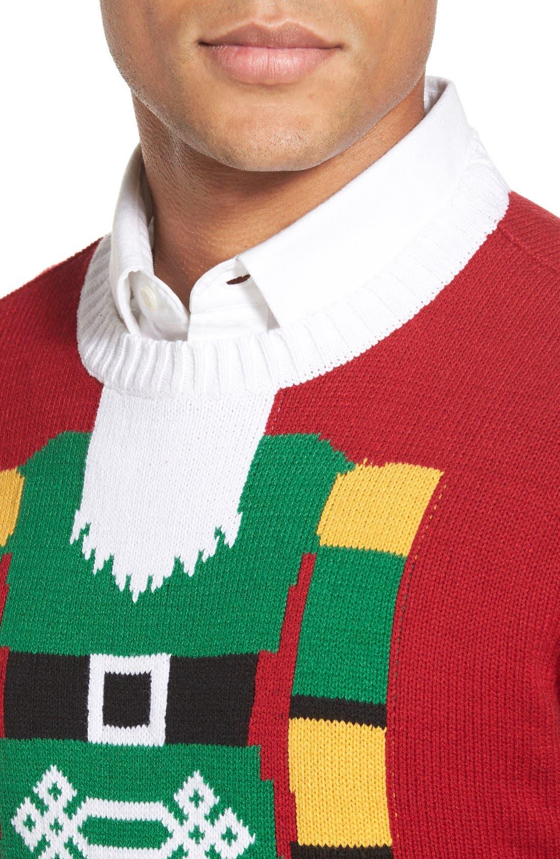 Alternate Image 4  - Ugly Christmas Sweater 'Nutcracker Face' Holiday Crewneck Sweater