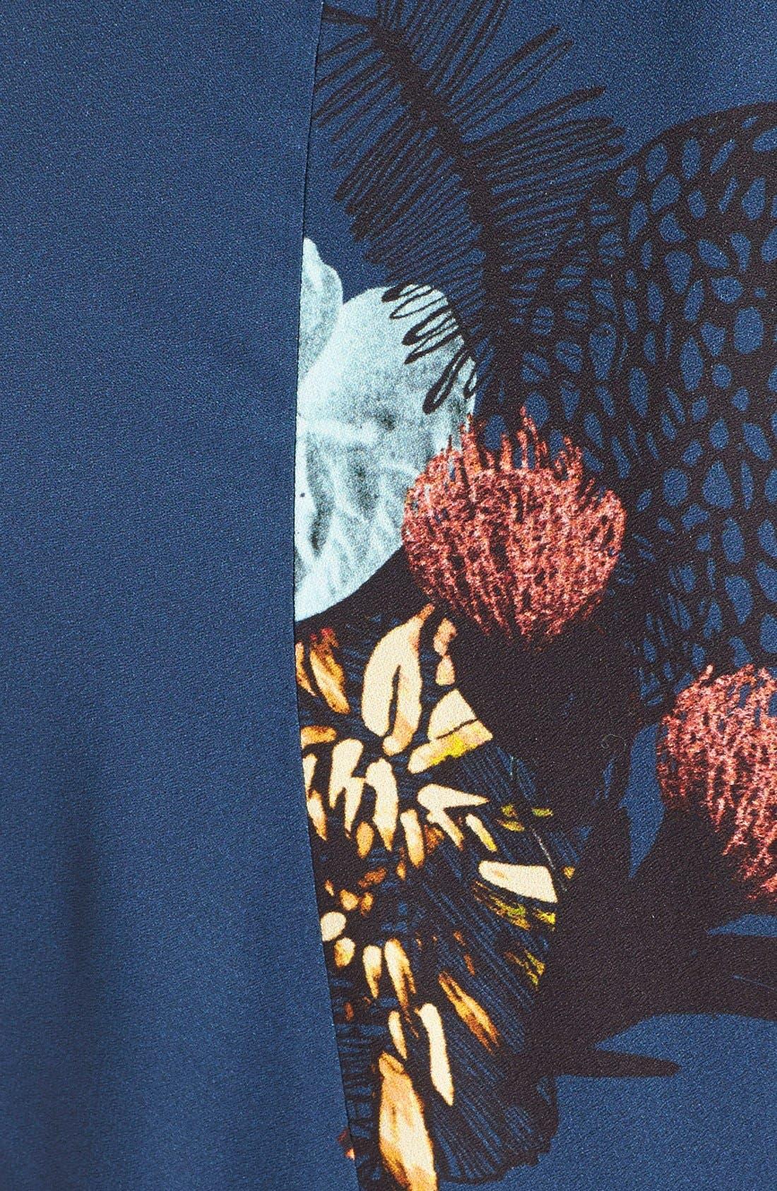 Alternate Image 3  - ProenzaSchoulerTropical Print Sleeveless Ruffle Dress