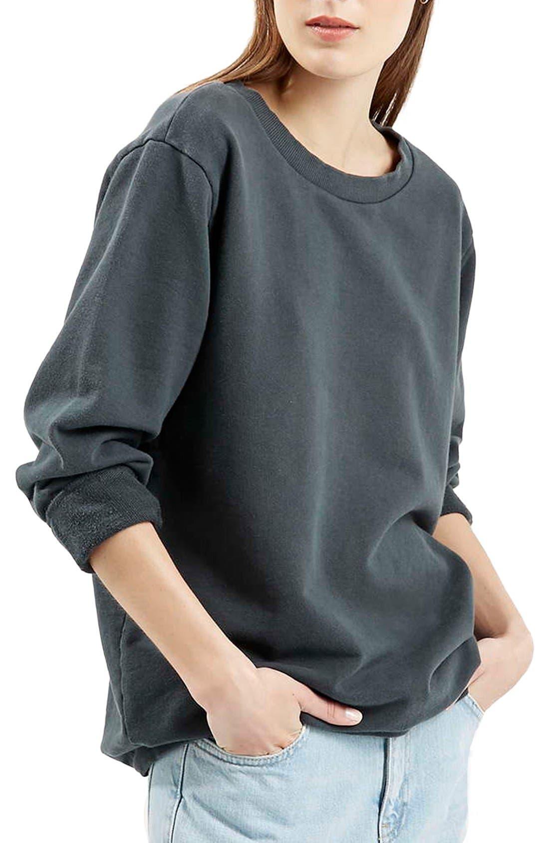 Main Image - Topshop Washed '90s Sweatshirt