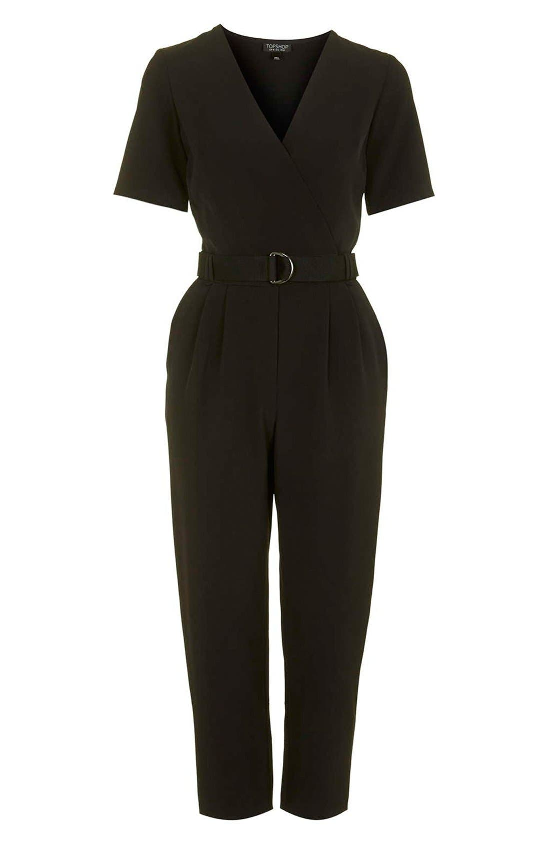 Alternate Image 4  - Topshop Belted Jumpsuit