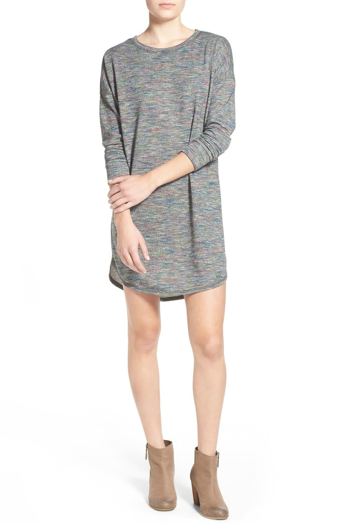 Alternate Image 1 Selected - One Clothing Space Dye Sweater Dress