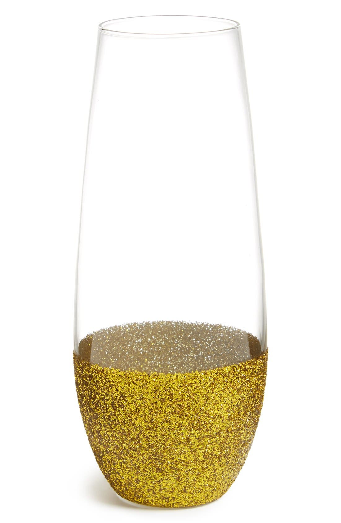 Main Image - Slant Collections 'Glitter' Stemless Champagne Glass