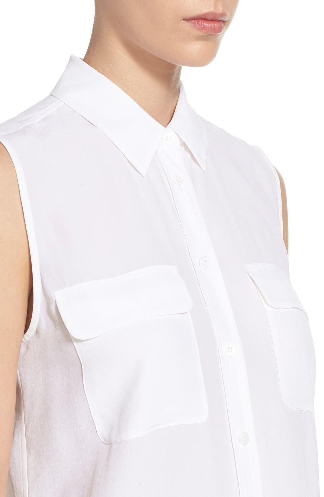 Alternate Image 6  - Equipment 'Slim Signature' Sleeveless Silk Shirt