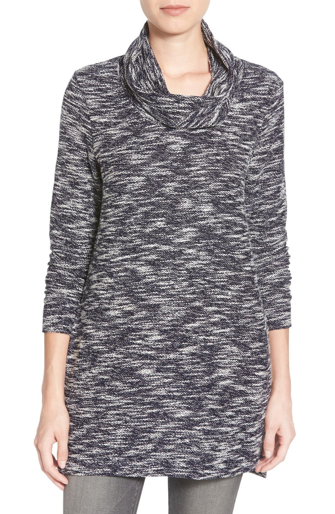 Alternate Image 1 Selected - Caslon® Knit Cowl Neck Tunic (Regular & Petite)
