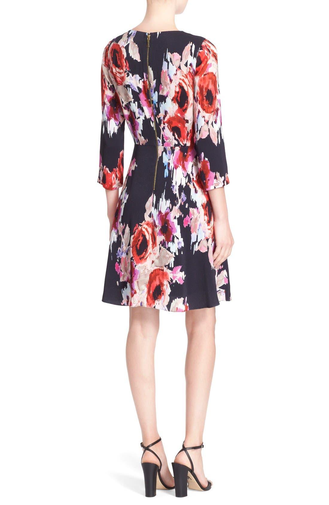 Alternate Image 2  - kate spade new york floral print v-neck dress