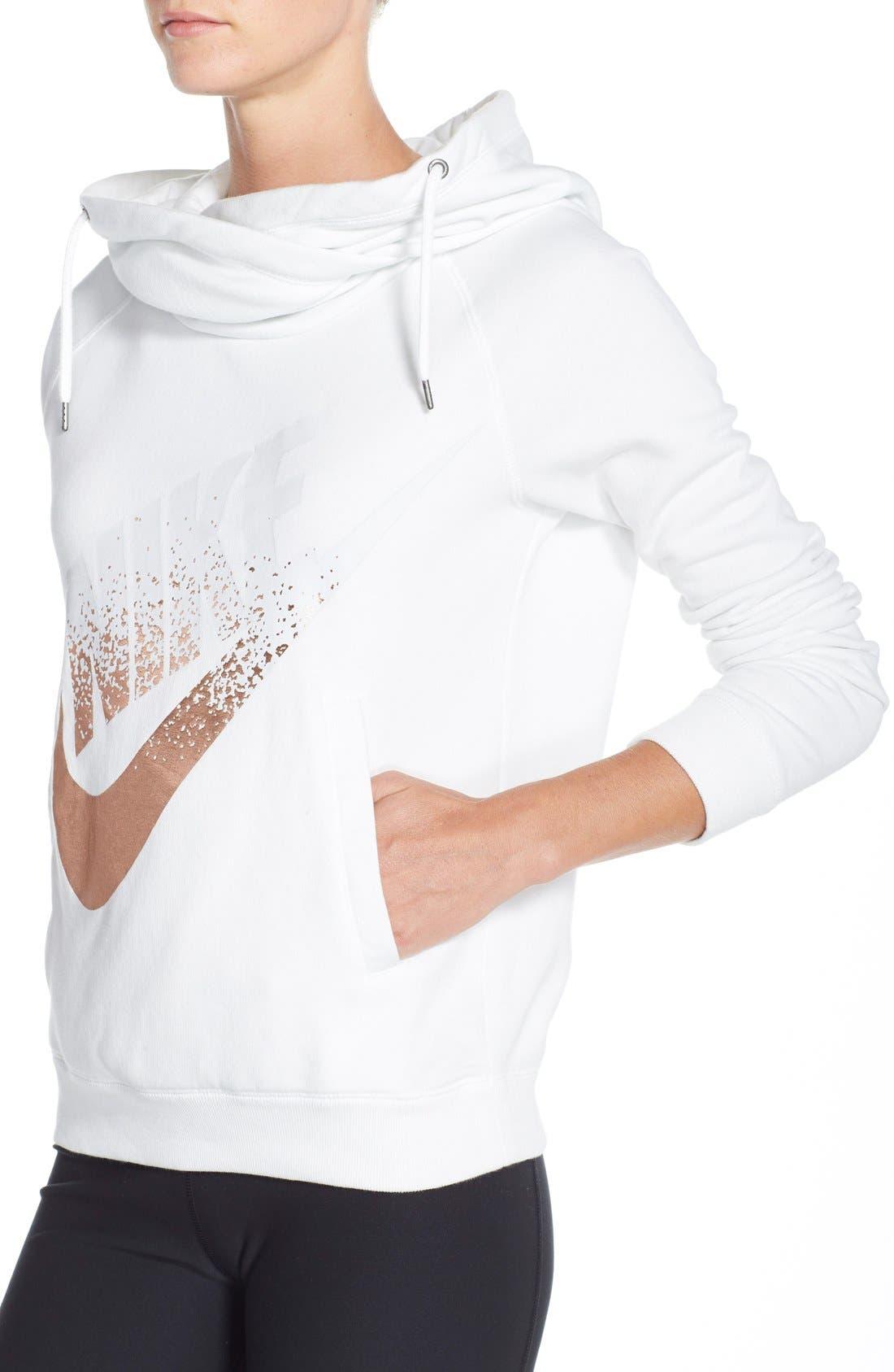 Alternate Image 3  - Nike 'Rally' Foiled Logo Hoodie