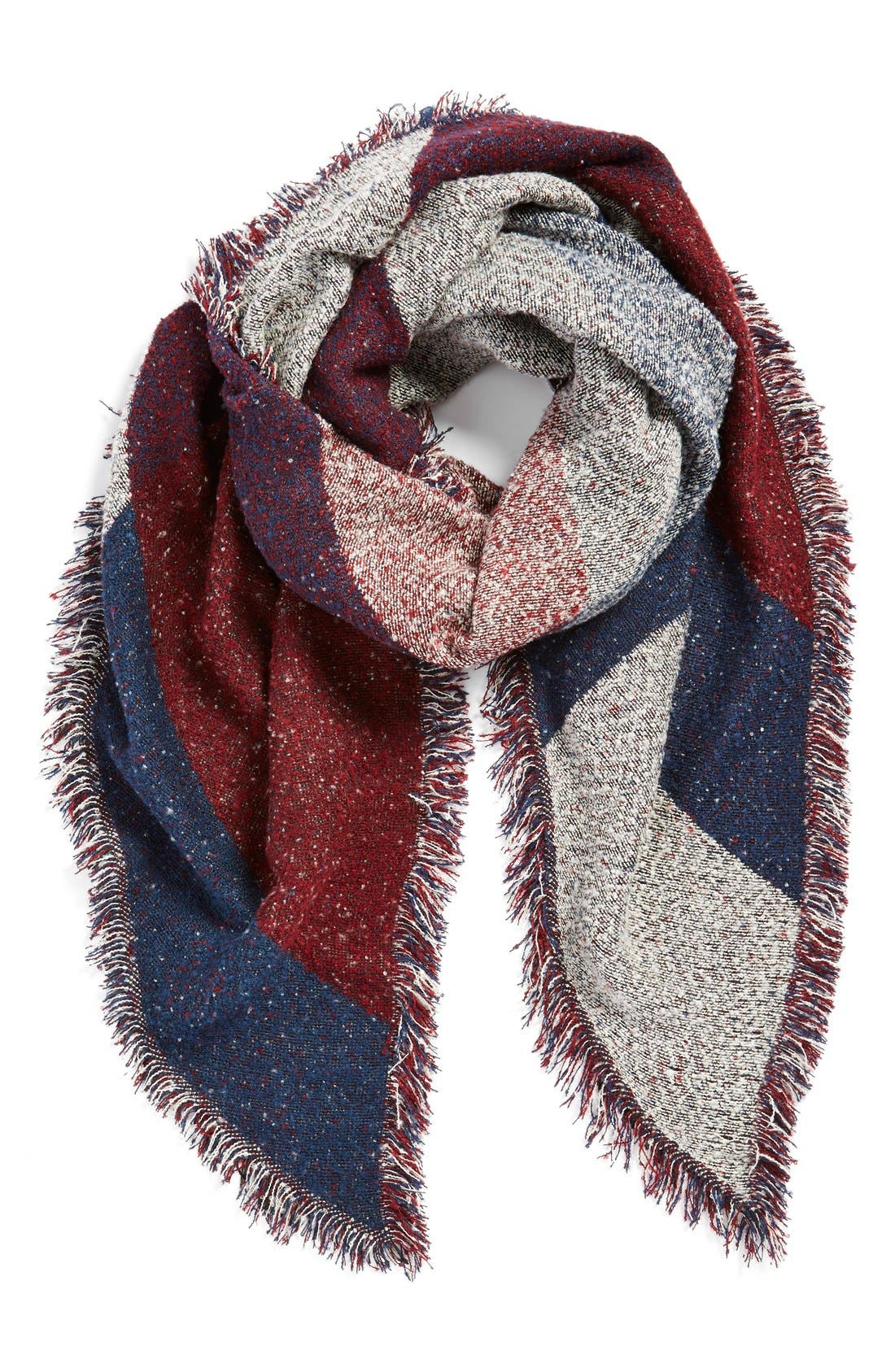 Main Image - BP. Marled Colorblock Oblong Scarf