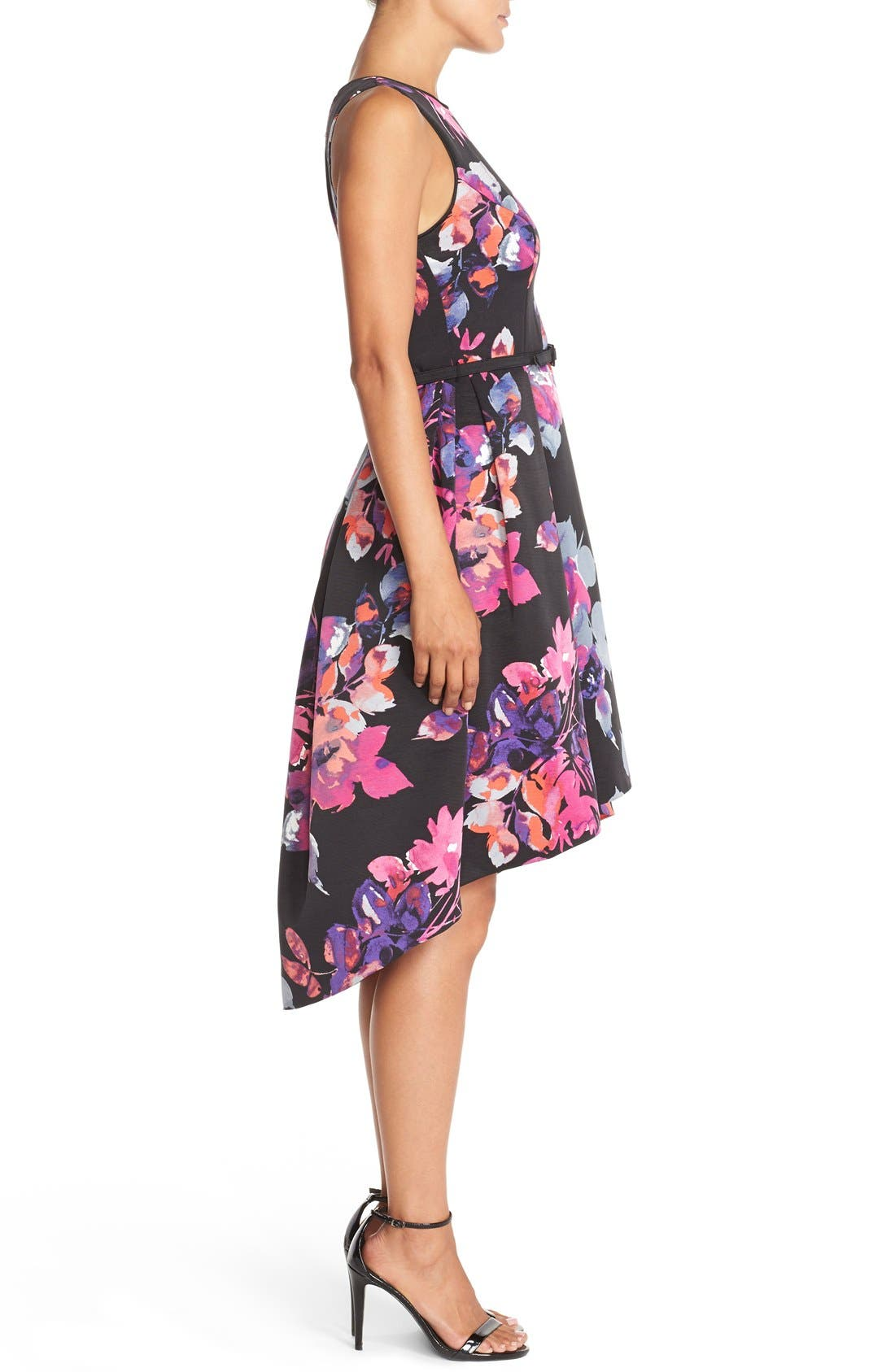 Alternate Image 3  - Vince Camuto Belted Faille Fit & Flare Dress