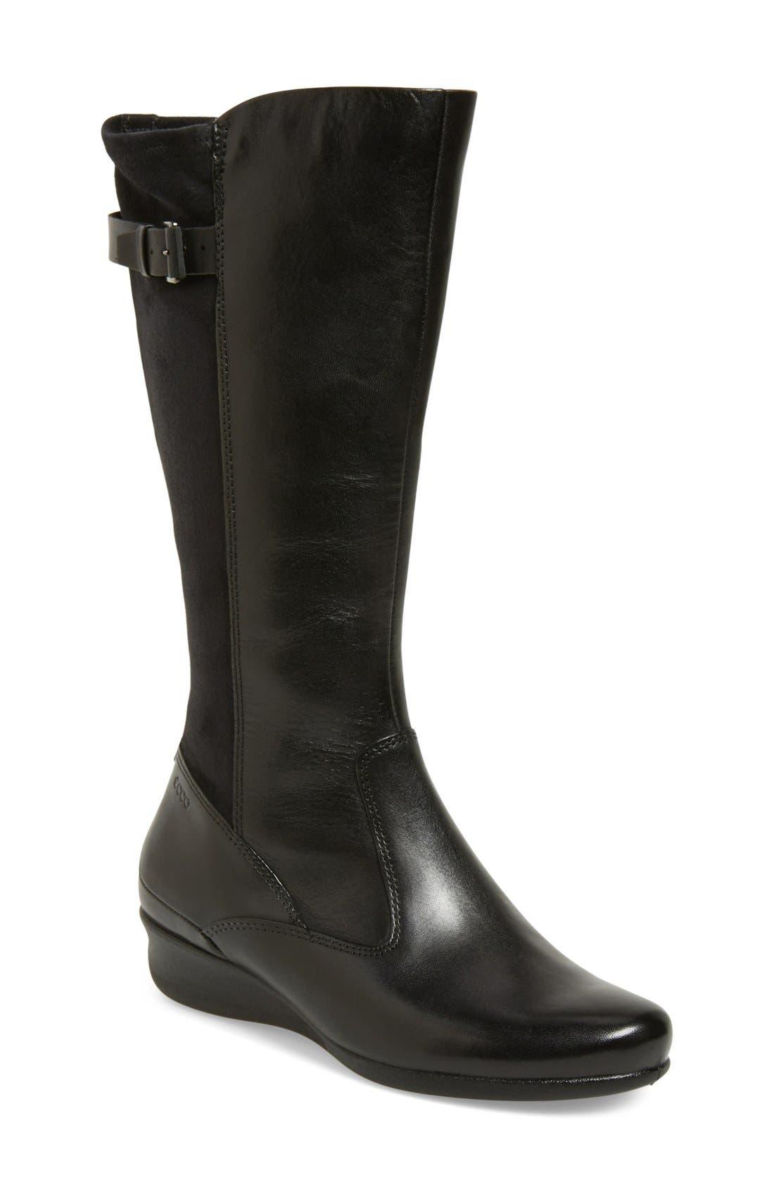 Main Image - ECCO 'Abelone Tall' Stretch Back Wedge Boot (Women)