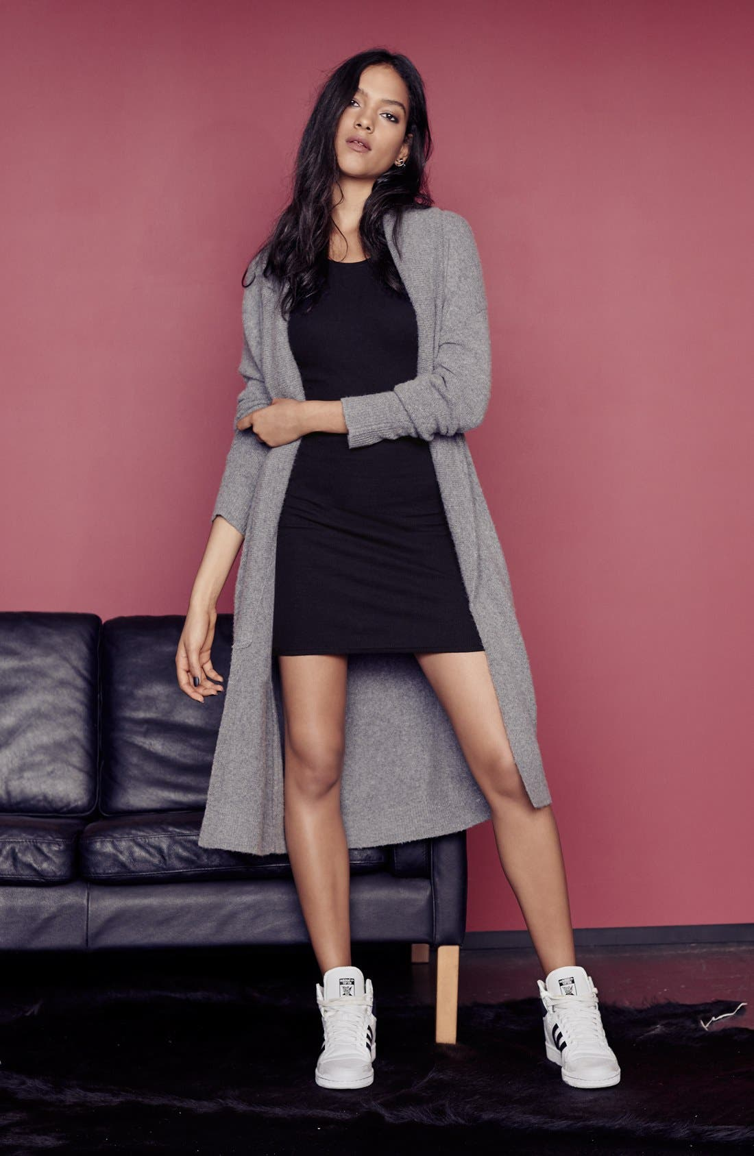 Alternate Image 4  - Leith Long Open Front Cardigan