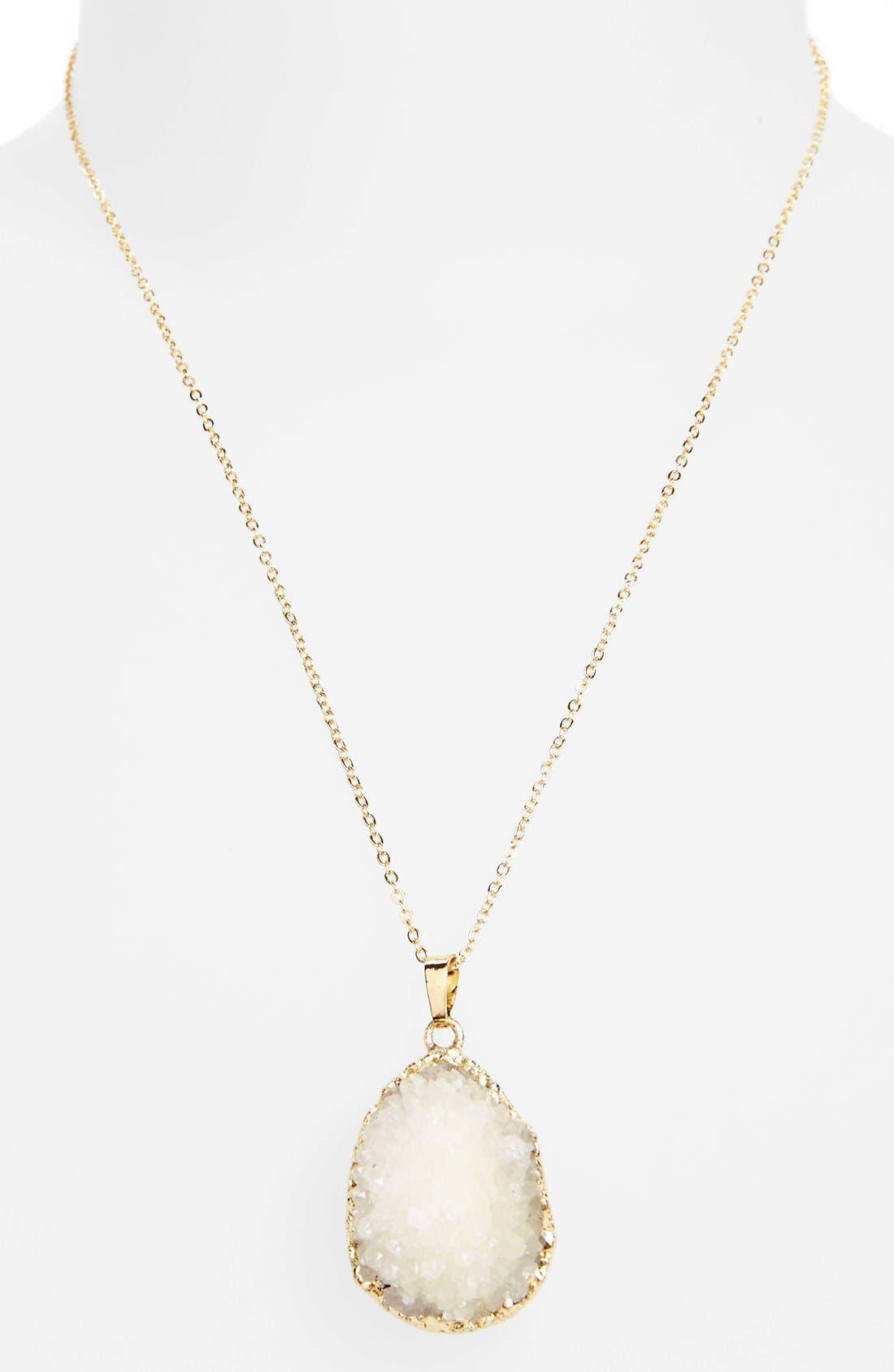 Alternate Image 2  - Panacea Drusy Pendant Necklace