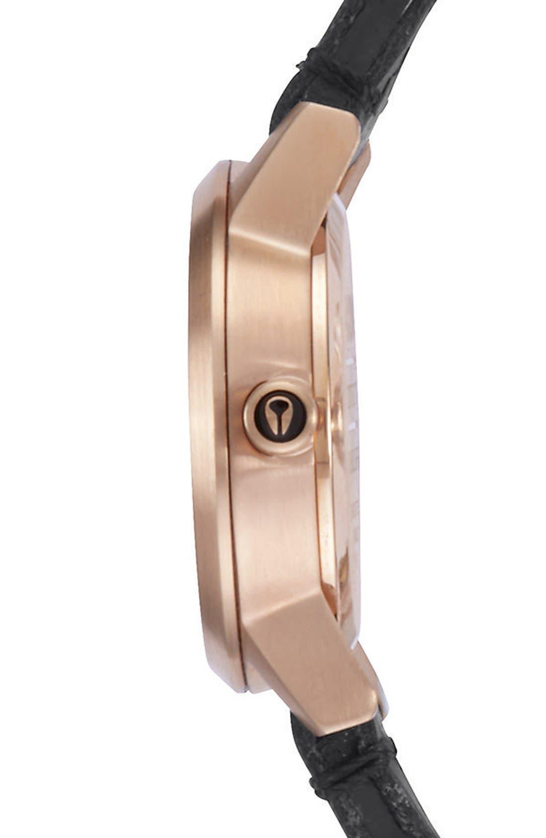 Alternate Image 3  - Nixon 'The Kenzi' Round Leather Strap Watch, 26mm