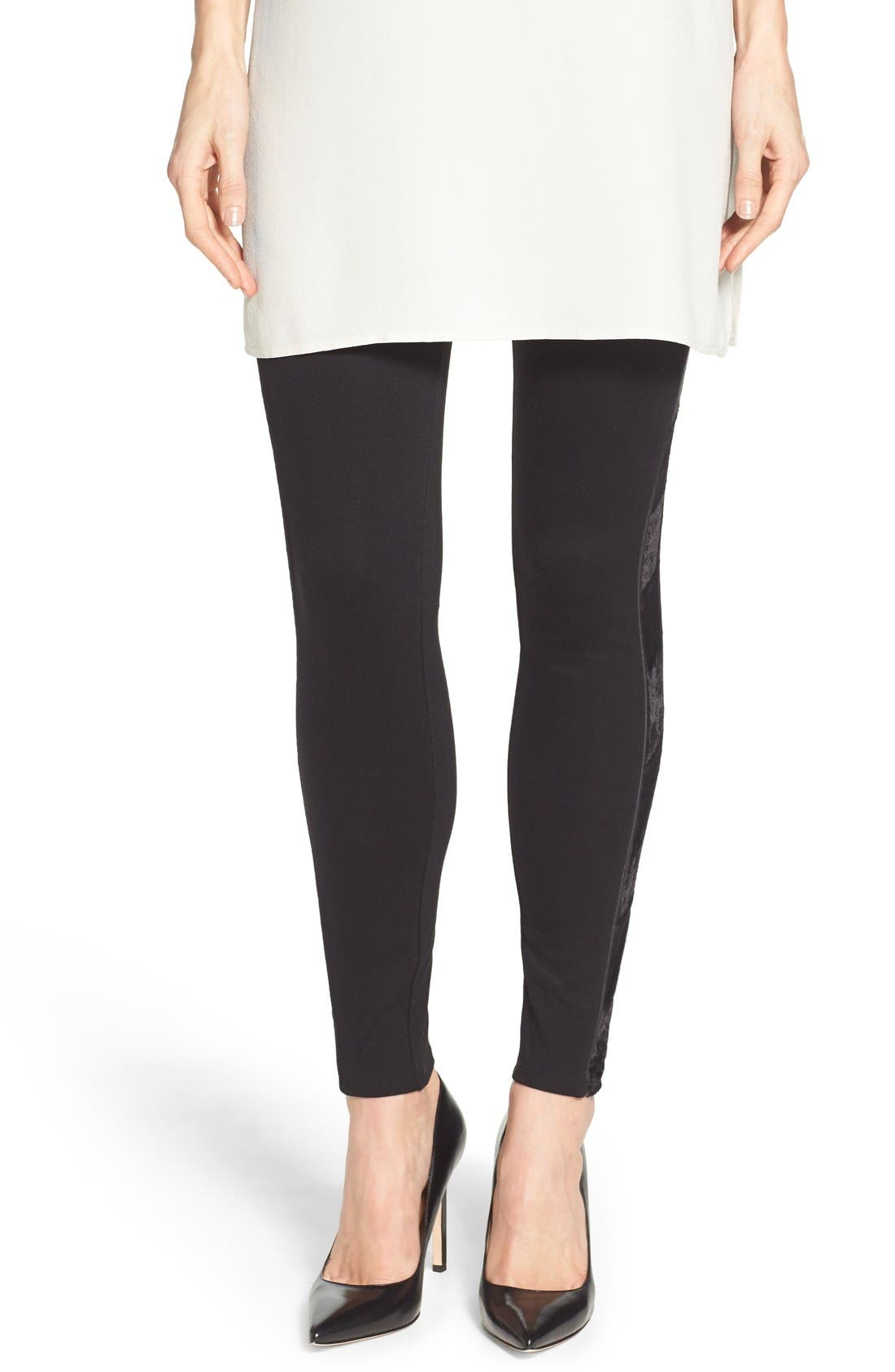 Alternate Image 2  - Lyssé Tuxedo Stripe Ponte Leggings