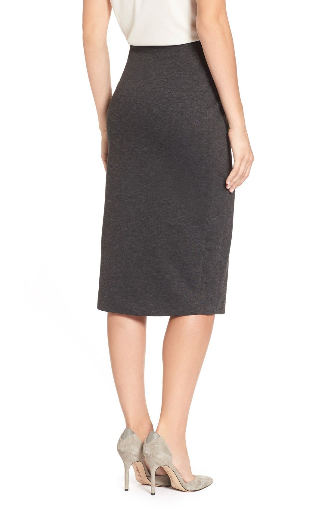 Alternate Image 2  - Vince Camuto Ponte Midi Skirt (Regular & Petite)