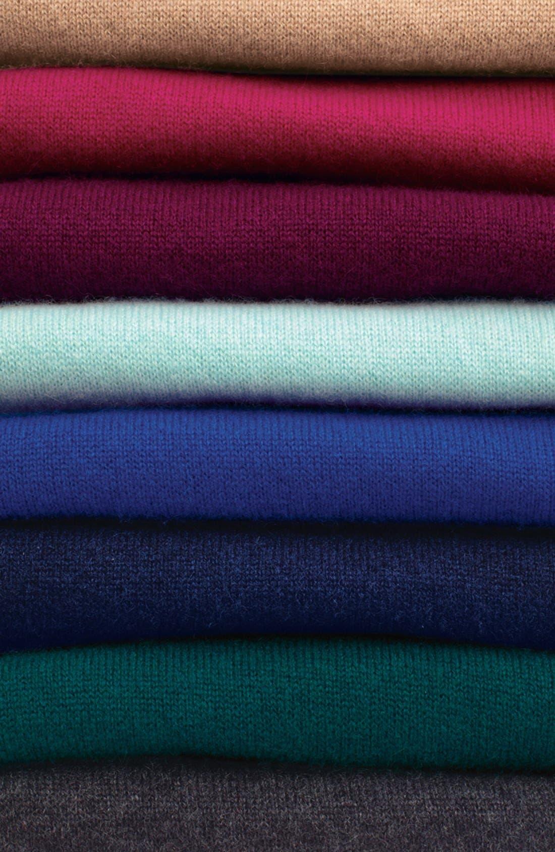 Alternate Image 7  - Halogen® Crewneck Lightweight Cashmere Sweater (Regular & Petite)
