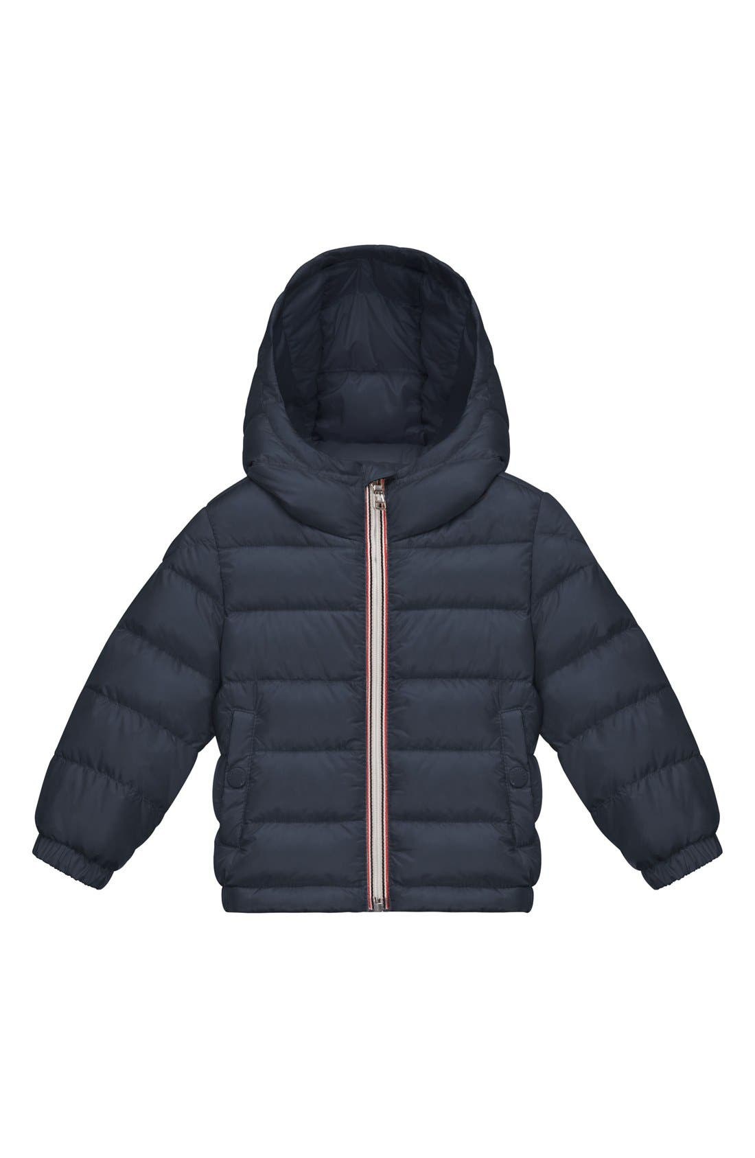 Moncler 'Dominic' Water Resistant Down Puffer Jacket (Baby Boys)