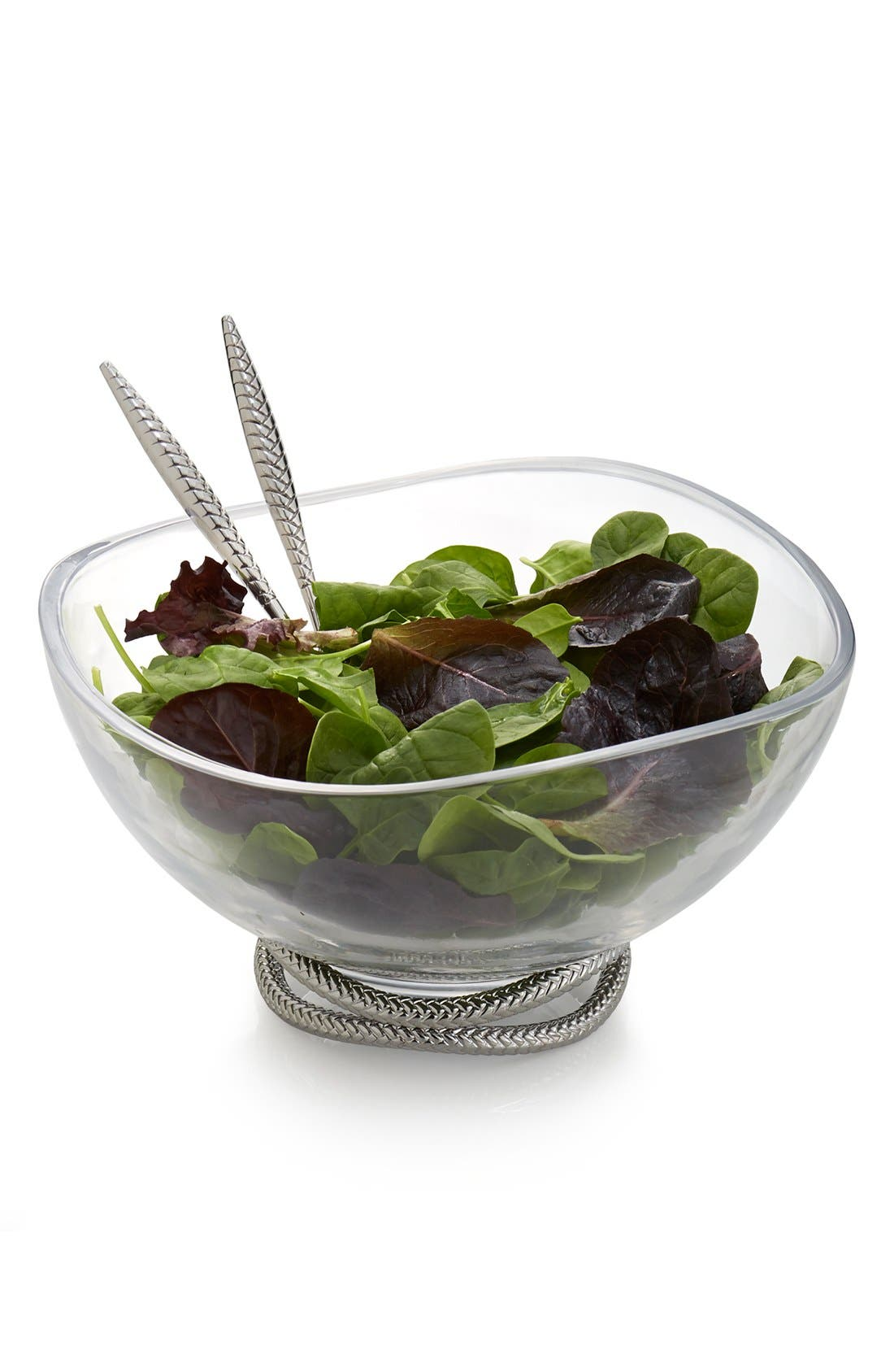 Nambé 'Braid' Glass Salad Bowl & Servers