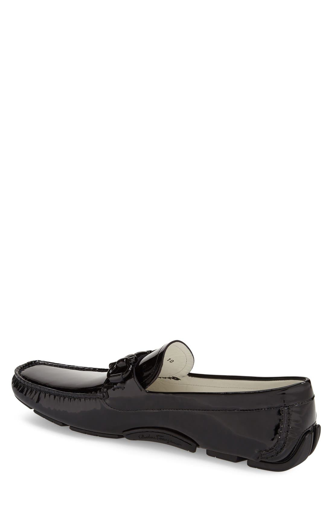 Alternate Image 2  - Salvatore Ferragamo 'Parigi' Patent Leather Driving Shoe (Men)