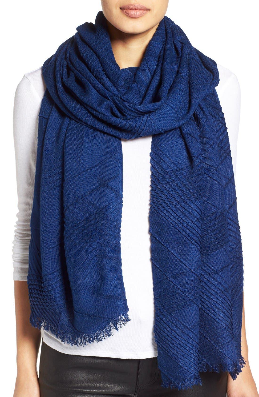 Alternate Image 1 Selected - Echo Pleated Blanket Scarf