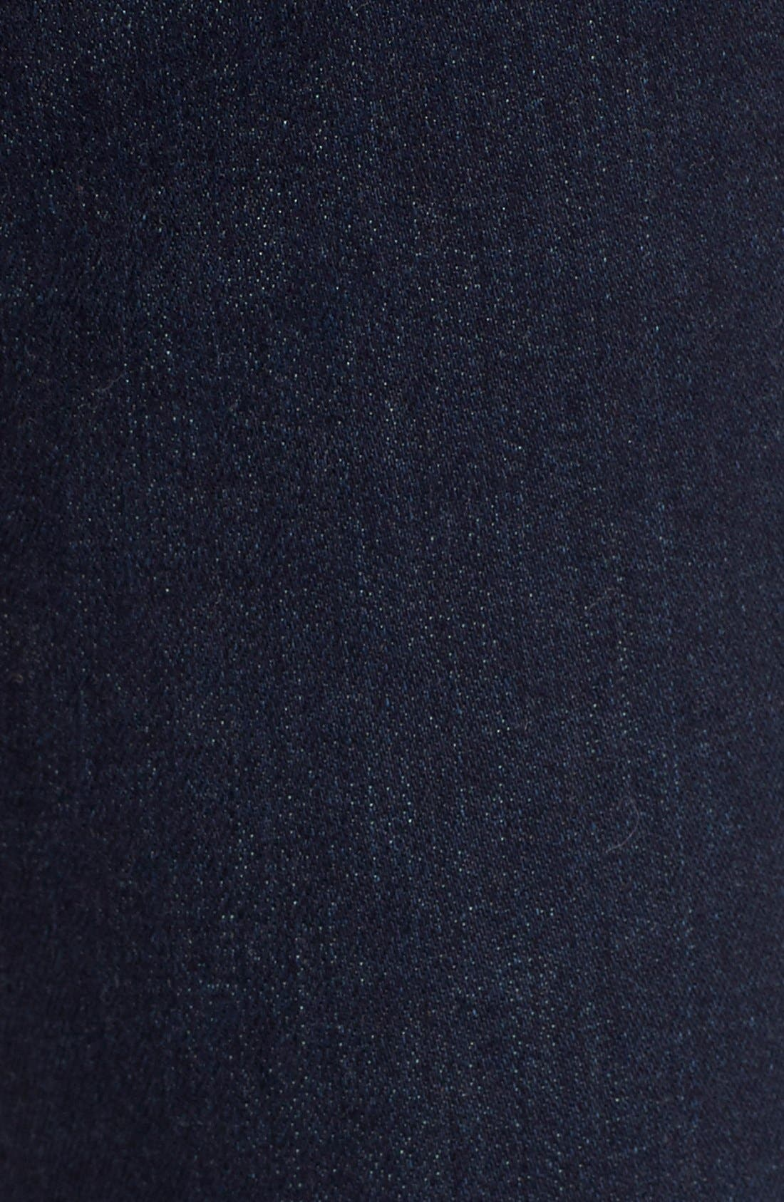 Alternate Image 5  - 7 For All Mankind® 'Kimmie' Straight Leg Jeans (Dark Dusk Indigo)