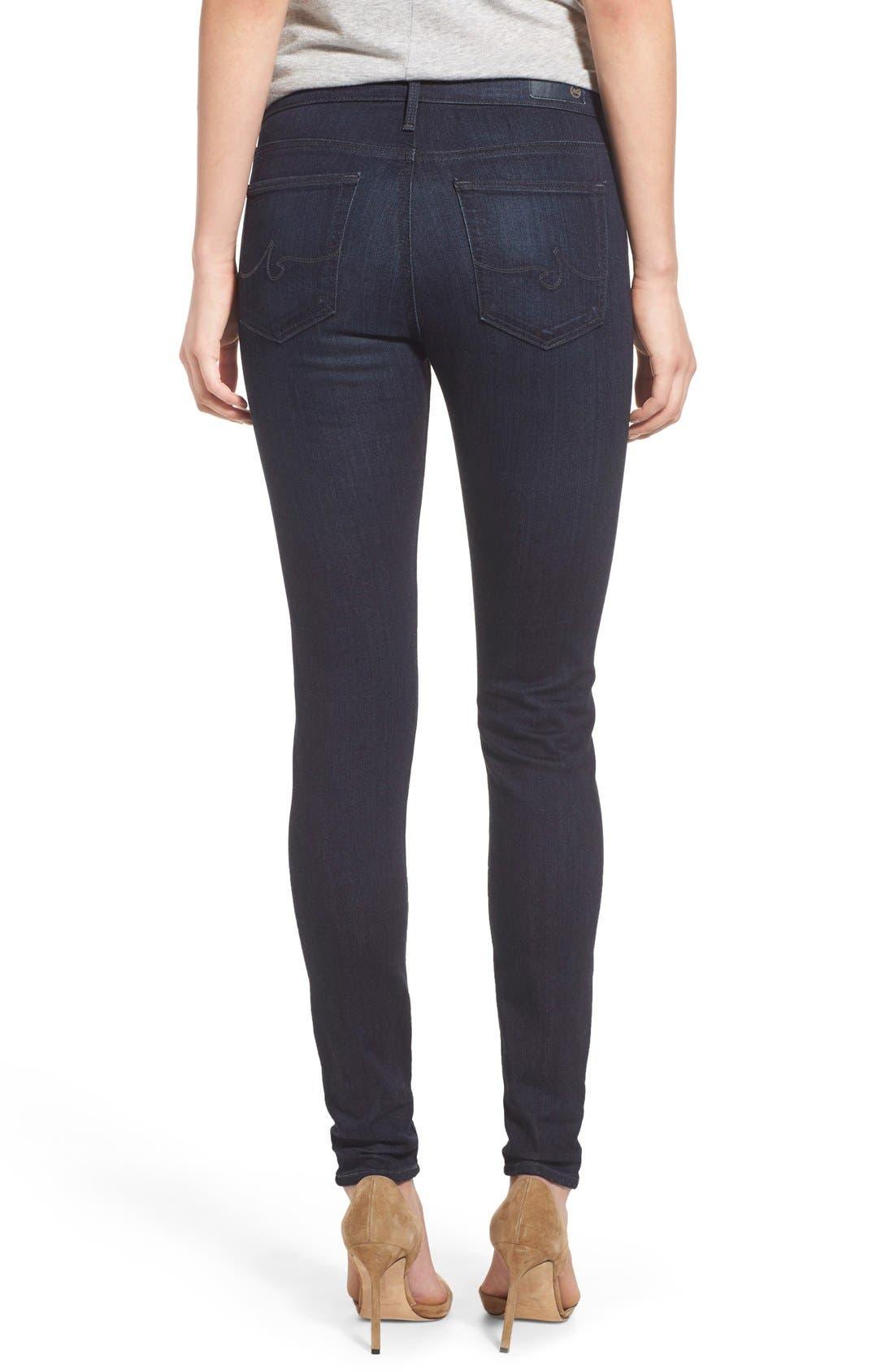 Alternate Image 2  - AG The Farrah High Waist Skinny Jeans (Brooks)
