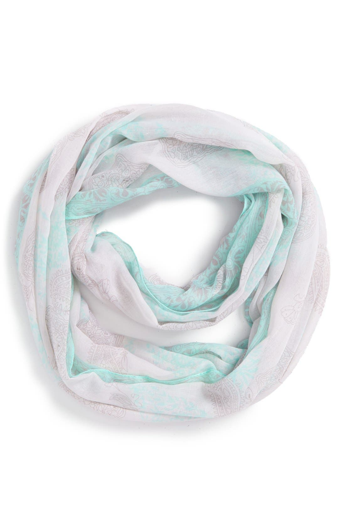 Alternate Image 1 Selected - No Brand Needed 'Pop Edge' Paisley Print Infinity Scarf