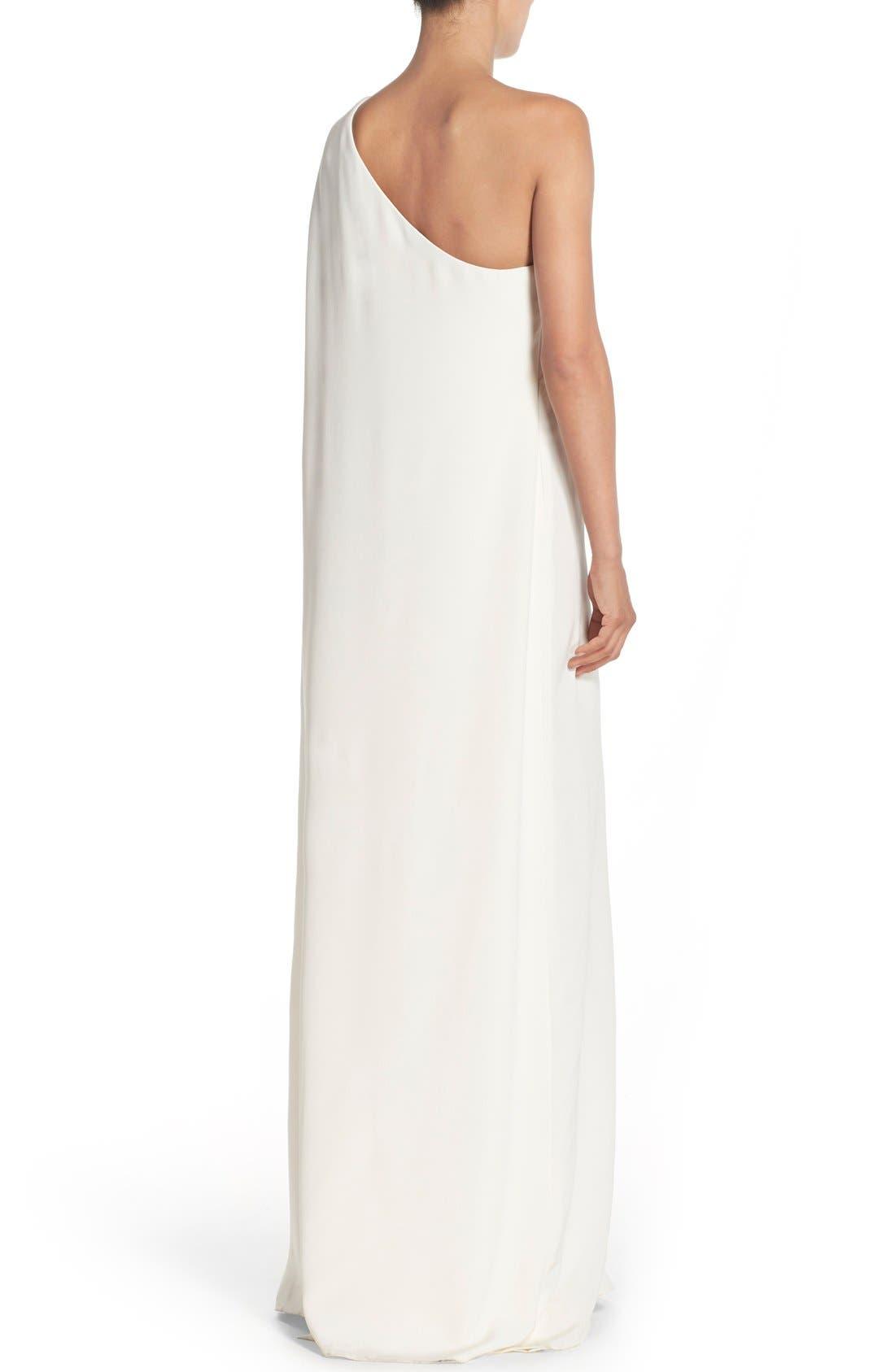 Alternate Image 2  - Jill Jill Stuart Cape Sleeve Crepe Gown