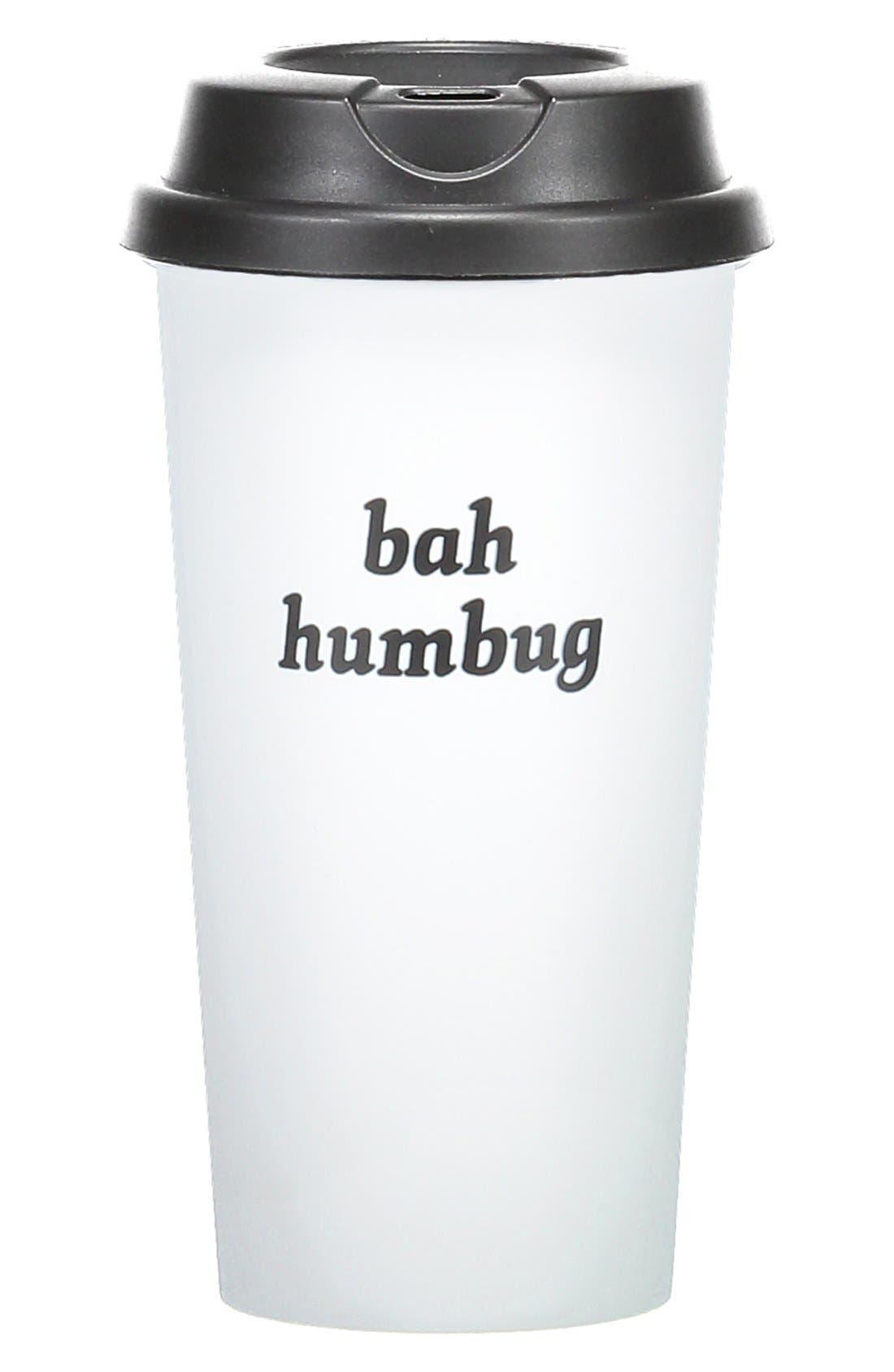 Alternate Image 1 Selected - Bow & Drape 'Bah Humbug' Travel Mug