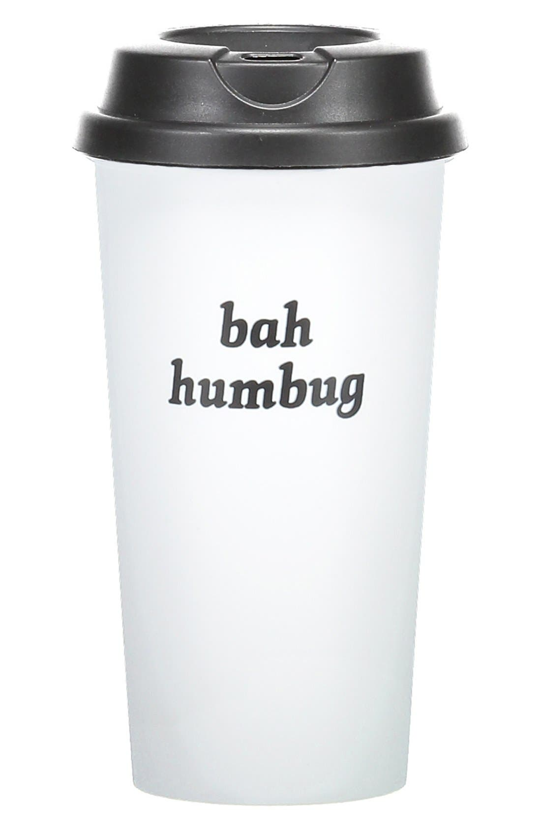 Main Image - Bow & Drape 'Bah Humbug' Travel Mug