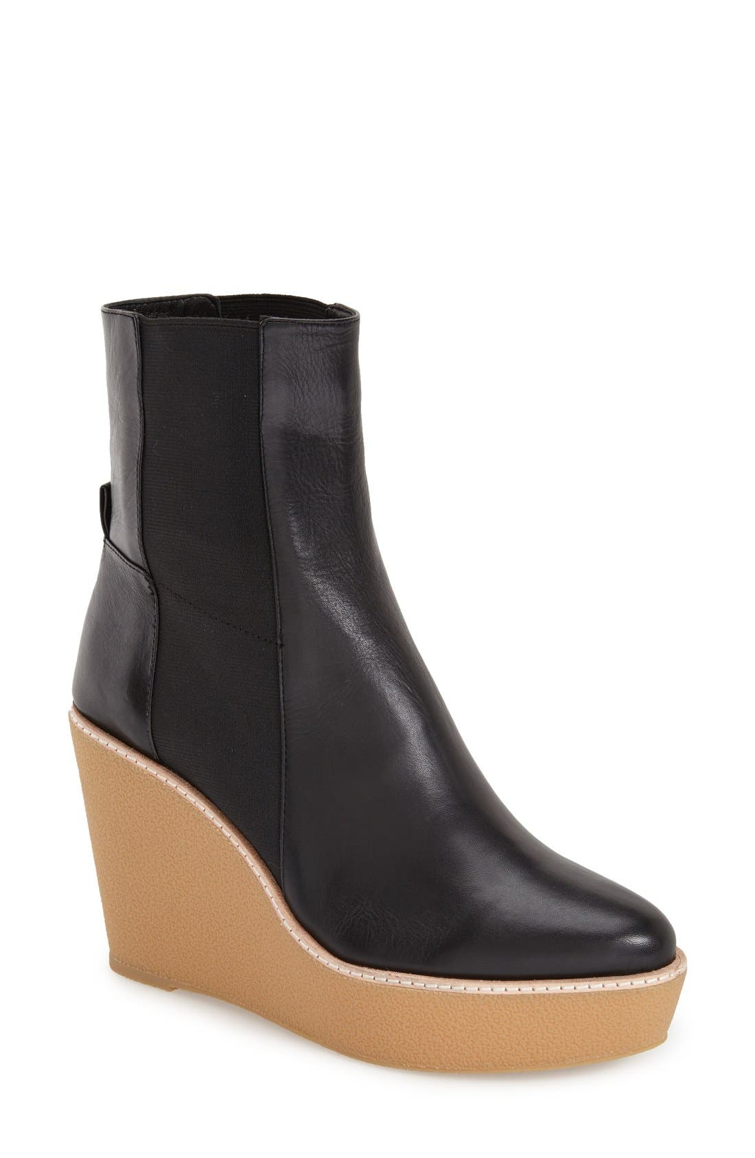 Alternate Image 1 Selected - Derek Lam 10 Crosby 'Sandy' Almond Toe Wedge Bootie (Women)