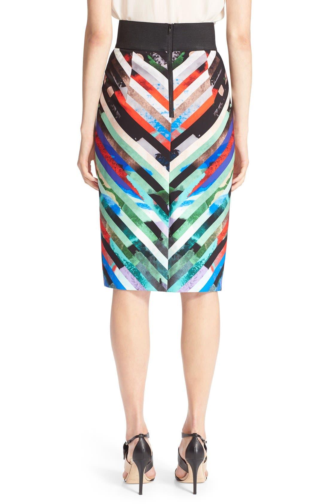 Alternate Image 3  - Milly 'Mirage Stripe' Pencil Skirt