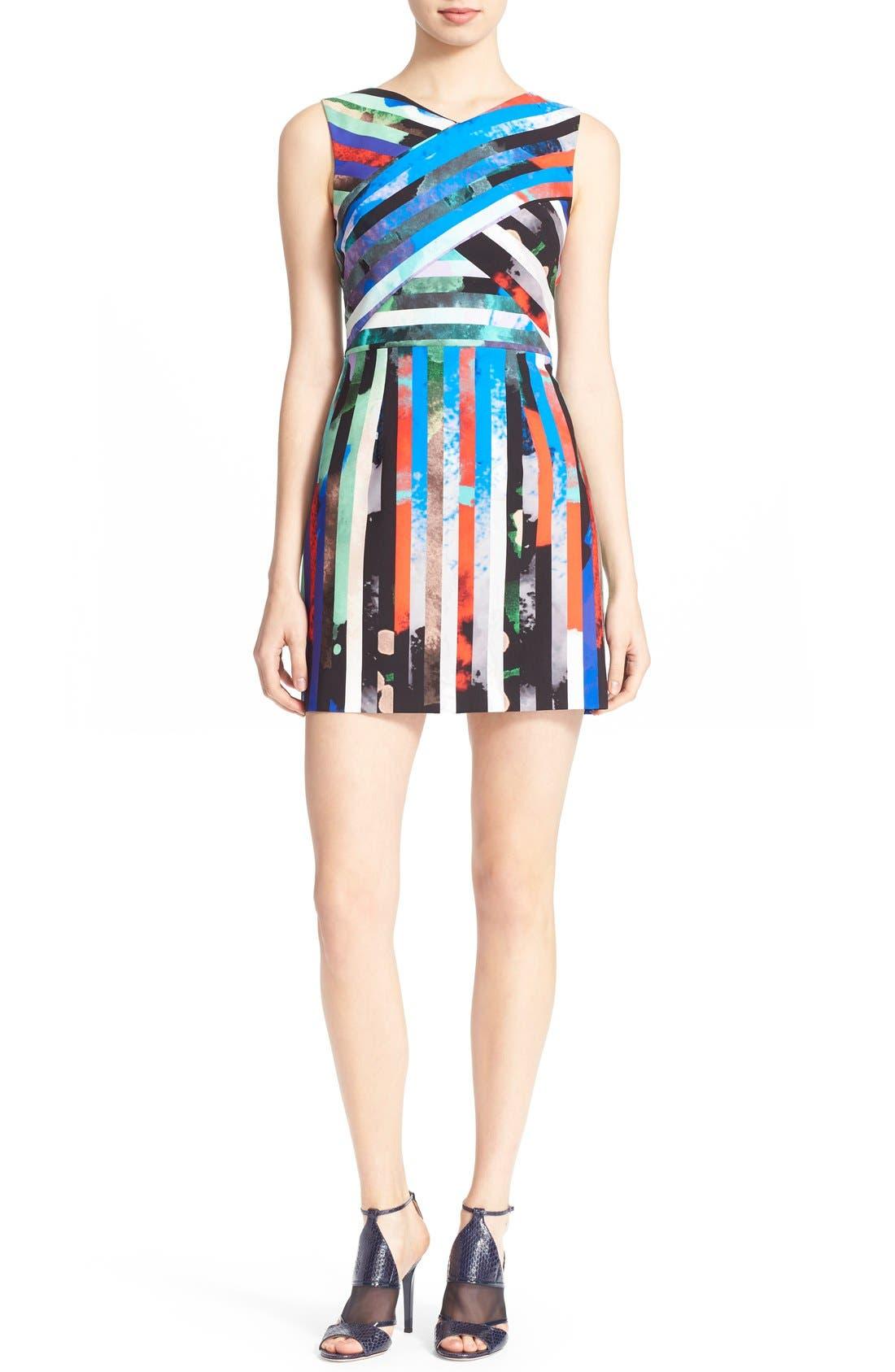Alternate Image 1 Selected - Milly 'Allison' Stripe Minidress