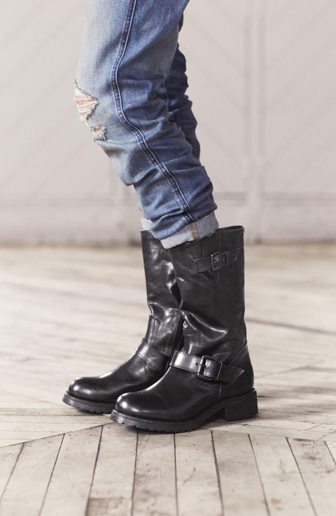 Alternate Image 5  - Steve Madden 'Shevron' Biker Boot (Women)