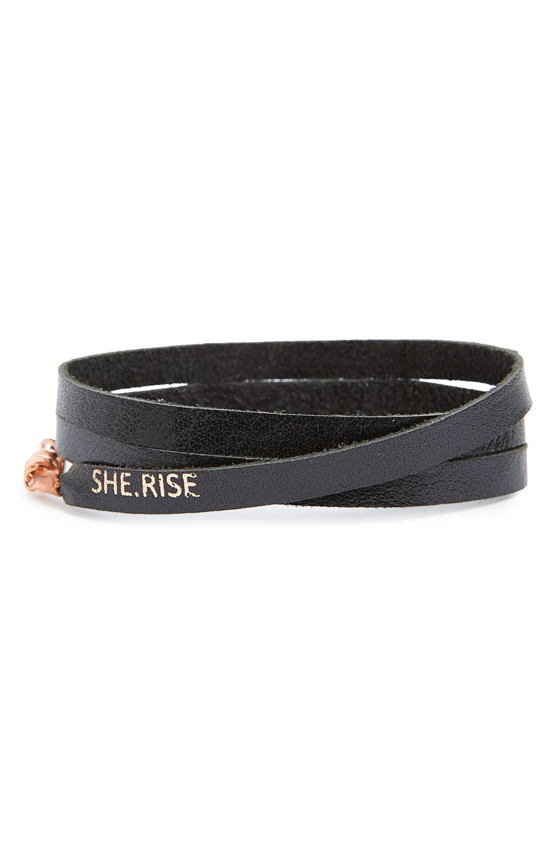 Alternate Image 1 Selected - She.Rise Triple Wrap Bracelet