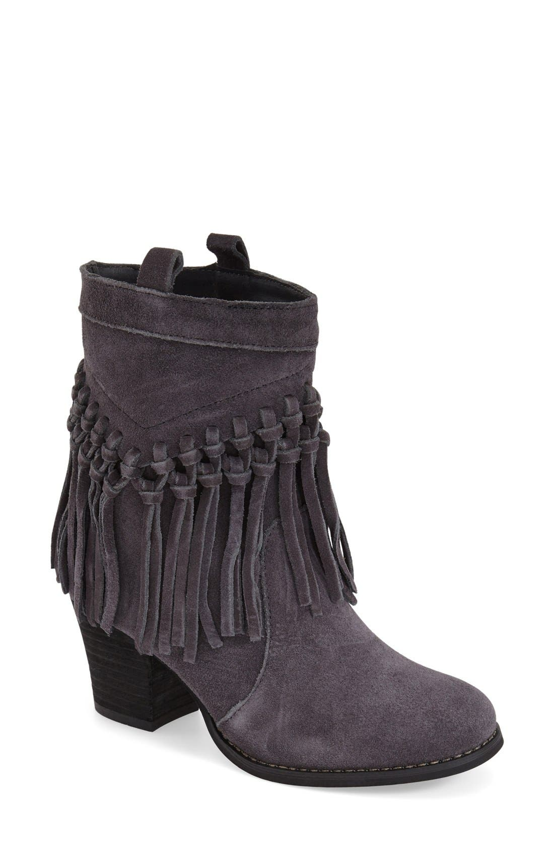 Alternate Image 1 Selected - Sbicca 'Sound' Fringe Suede Bootie (Women)