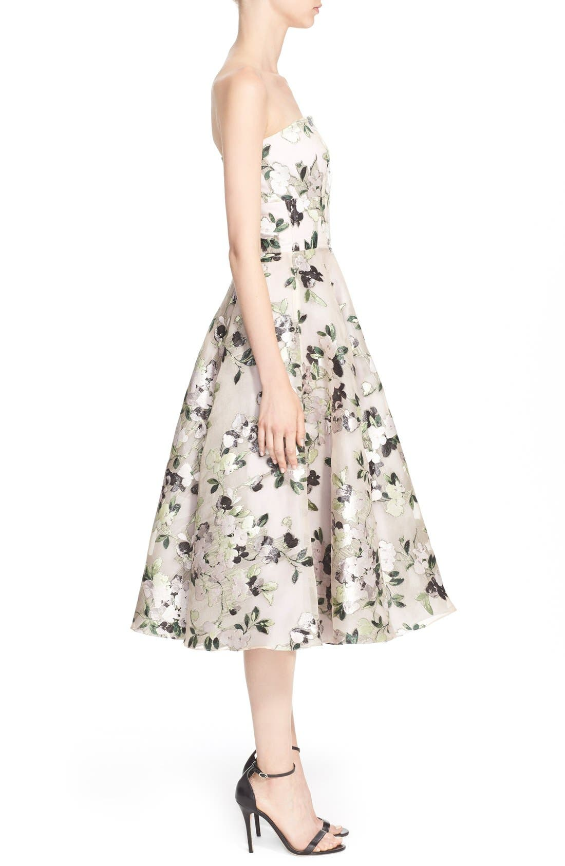 Alternate Image 5  - Alexander McQueen Floral Print Strapless Fit & Flare Dress