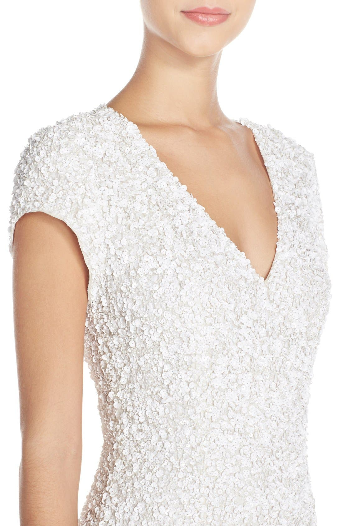 Alternate Image 4  - Parker Black 'Serena' Sequin Silk Body-Con Dress