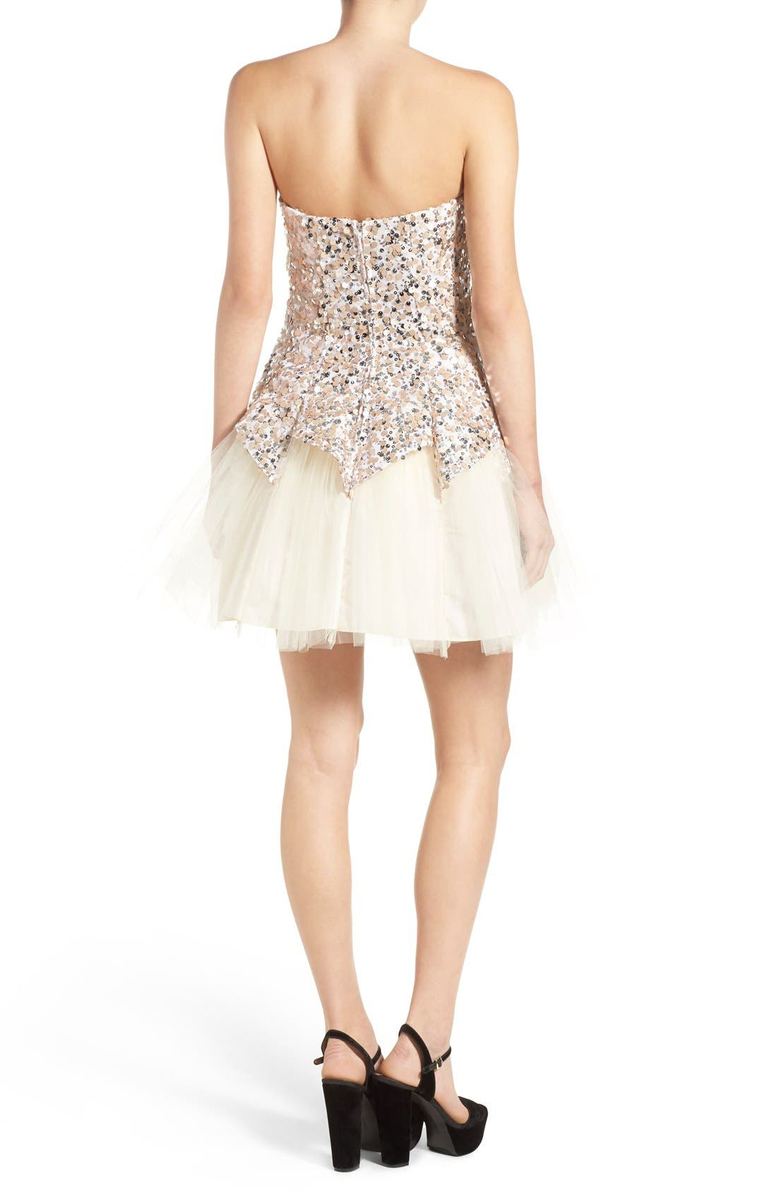 Alternate Image 2  - Steppin Out Sequin Tulip Dress