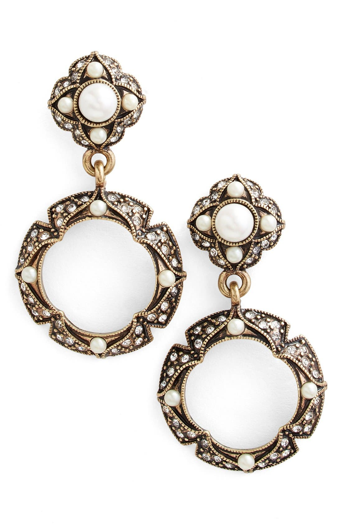 Main Image - Allison Reed Hoop Drop Earrings