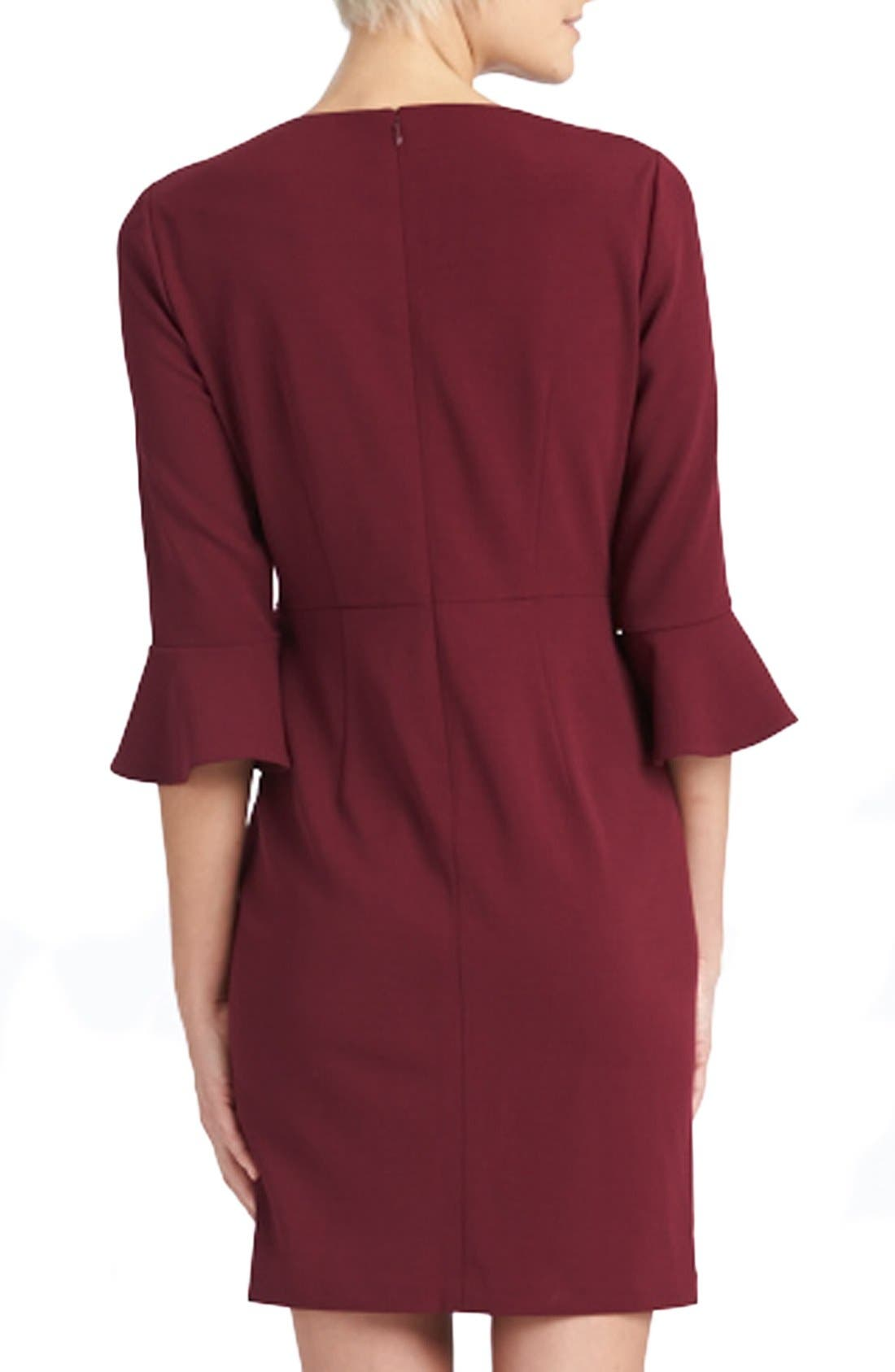 Alternate Image 4  - Donna Morgan Belle Sleeve Crepe Sheath Dress