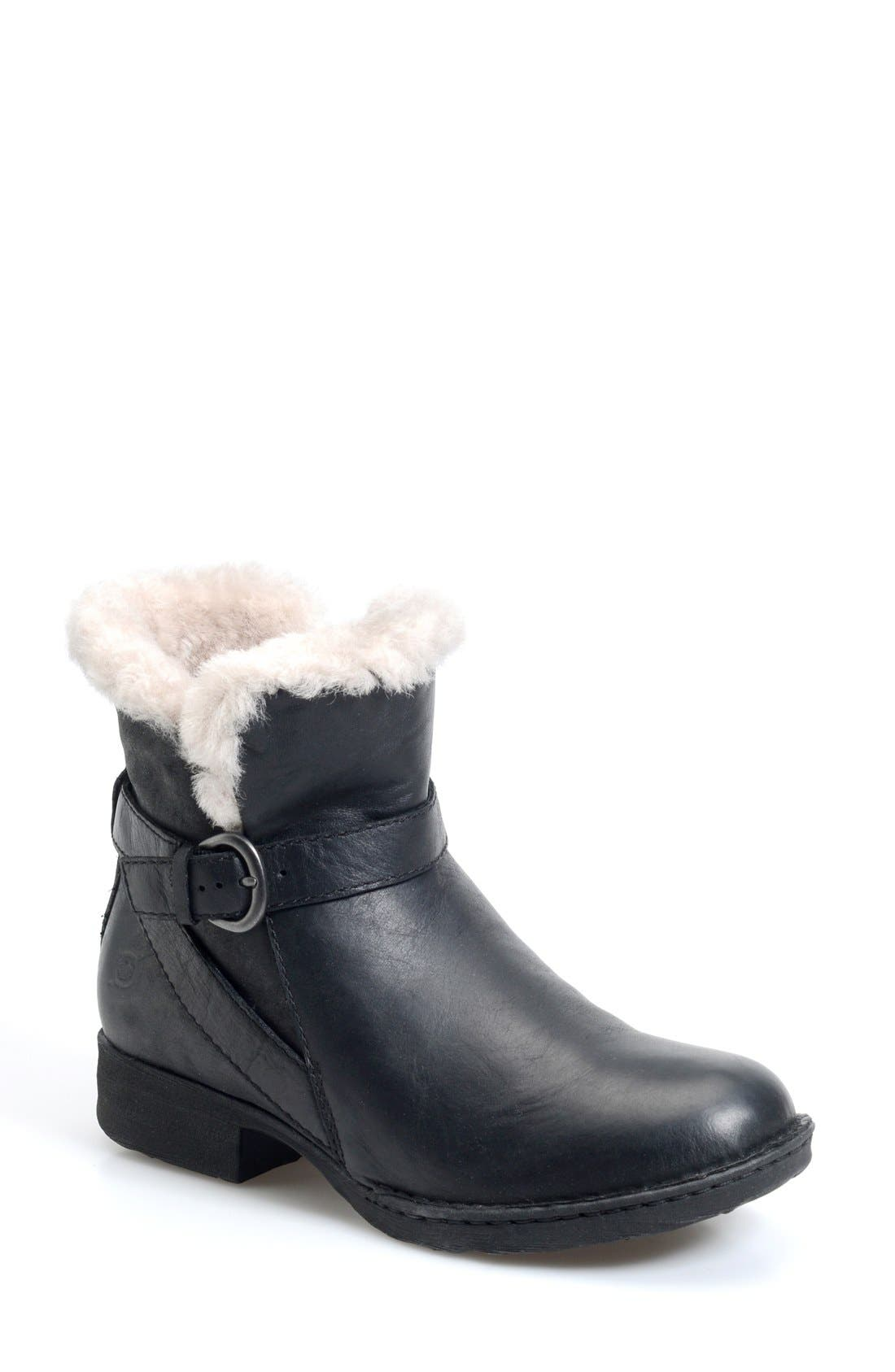 Børn 'Kaia' Round Toe Shearling Ankle Boot