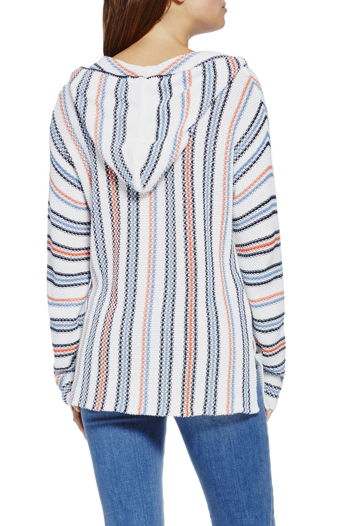 Alternate Image 2  - Two by Vince Camuto Textured Stripe Hoodie