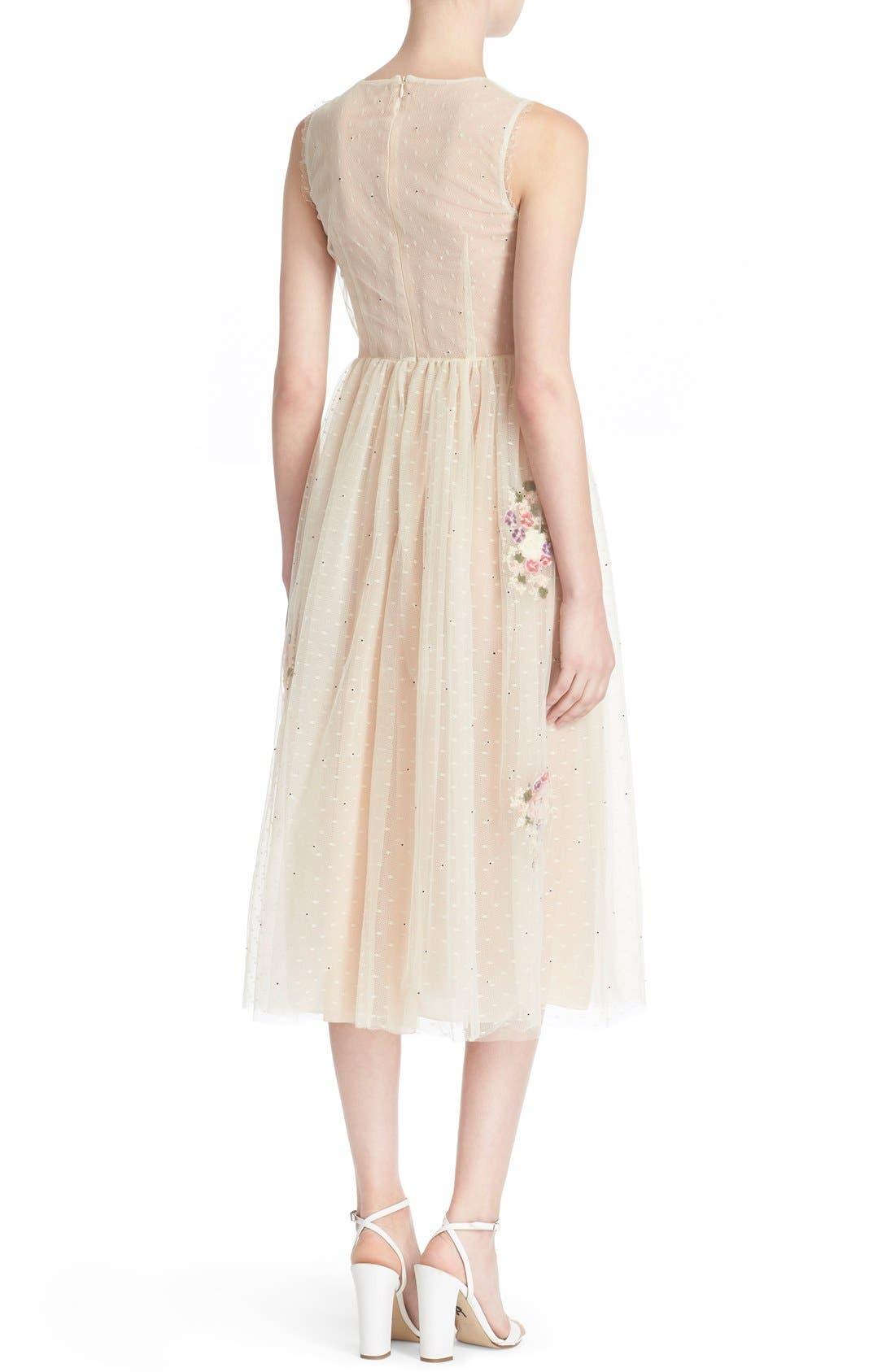 Alternate Image 2  - RED Valentino Floral Appliqué Sleeveless Dress